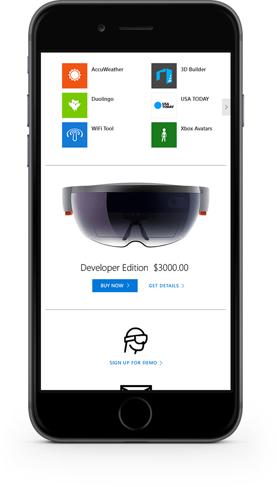 HoloLens Mobile Layout